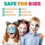 Kraze FX Face and Body Paints | Splash 6 One Stroke Split Cake Palette (6 gm each) Safe for Kids