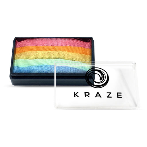 Kraze FX Face and Body Paints | Domed 1 Stroke Cake - Sherbet Punch 25gr Rainbow cake