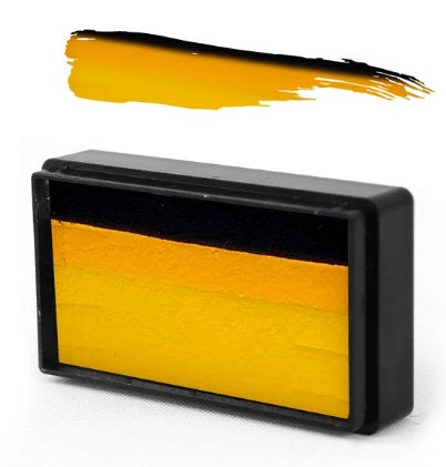 Silly Farm | Face Paint Arty Brush Cake 28gr - EZ (Easy) Strokes by Susy Amaro - Pineapple Yellow