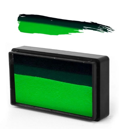 Silly Farm | Face Paint Arty Brush Cake 28gr - EZ (Easy) Strokes by Susy Amaro - Turtle Green #40