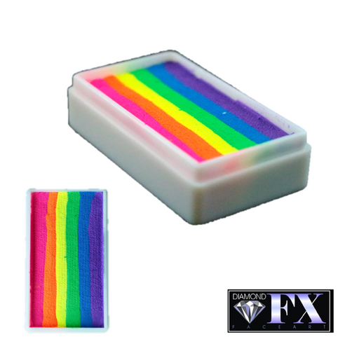 DFX Special Effects Paint Rainbow Cake - Small Neon Nights (RS30-7) 28gr #7 - Jest Paint Store