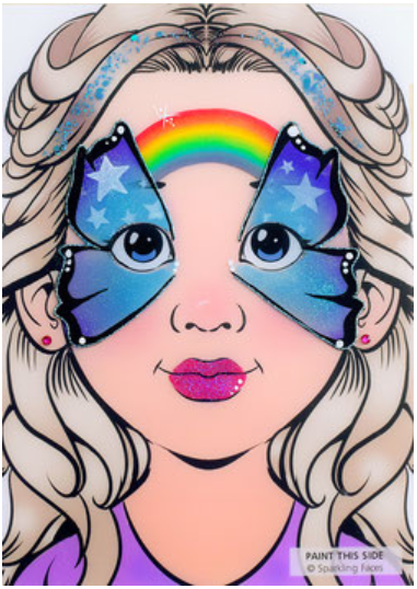 Sparkling Faces | Face Painting Practice Board - Sofia demo