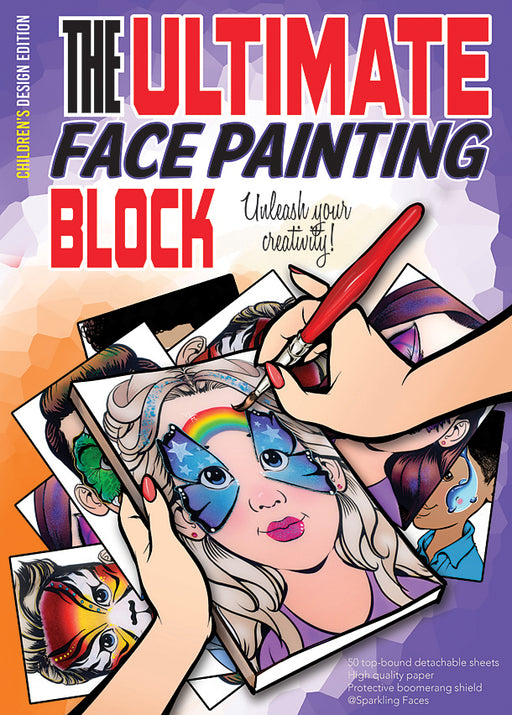 Sparkling Faces | The Ultimate Face Painting Practice Block - Children's Edition (50 paper pages) - Jest Paint Store