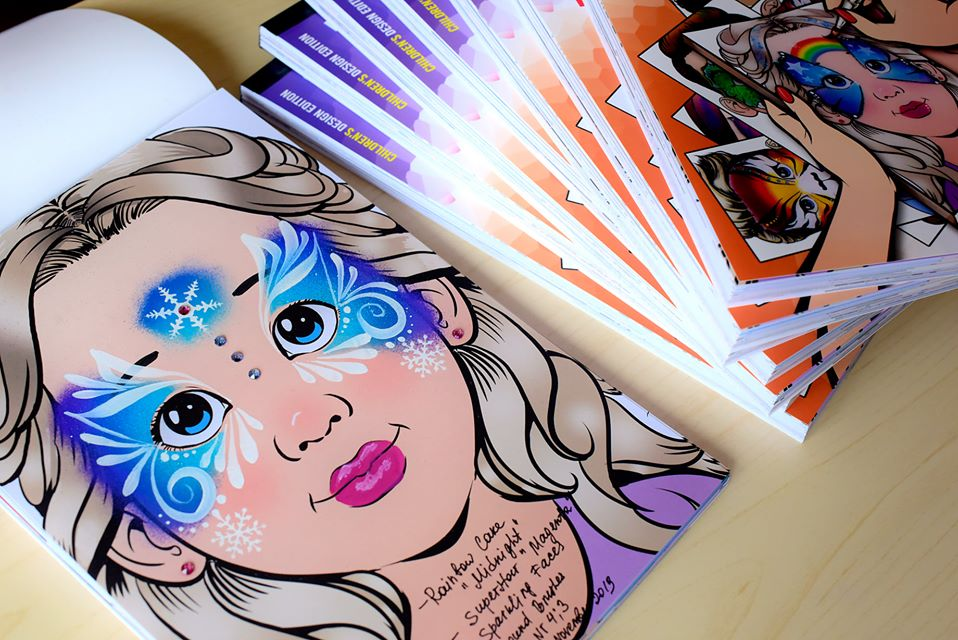 Sparkling Faces | The Ultimate Face Painting Practice Block - Children's Edition stack