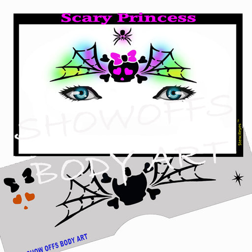 Stencil Eyes - Face Painting Stencil - Scary Princess - Jest Paint Store