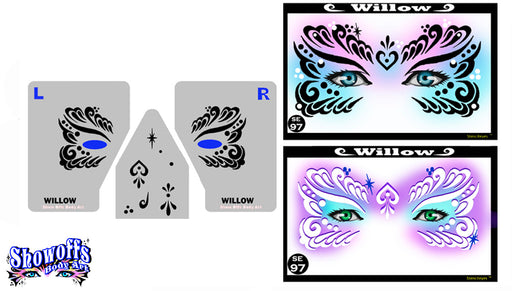 Stencil Eyes - Face Painting Stencil - Willow - Jest Paint Store