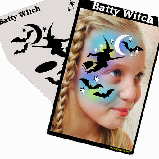 Stencil Eyes  Profiles - Face Painting Stencil - Batty Witch