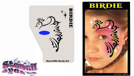 Stencil Eyes / Profiles - Face Painting Stencil - Birdie - DISCONTINUING - Jest Paint Store