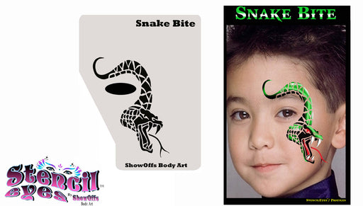 Stencil Eyes / Profiles - Face Painting Stencil - Snake Bite - Jest Paint Store