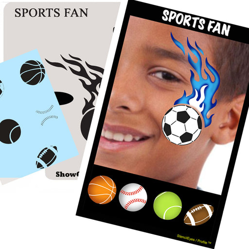 Stencil Eyes / Profiles - Face Painting Stencil - Sports Fan - Jest Paint Store