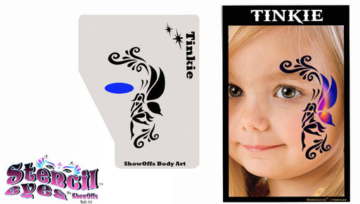 Stencil Eyes / Profiles - Face Painting Stencil - Tinkie - Jest Paint Store