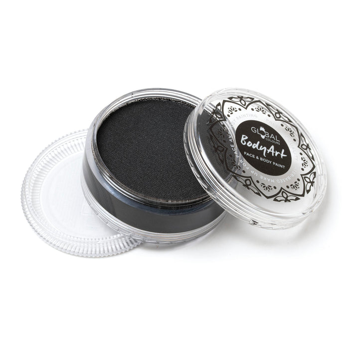 Global Body Art Face Paint | Standard Strong Black 90gr