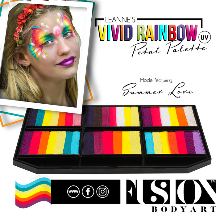 Fusion Body Art  - Petal Palette | Leanne's Vivid Rainbow - Summer Love