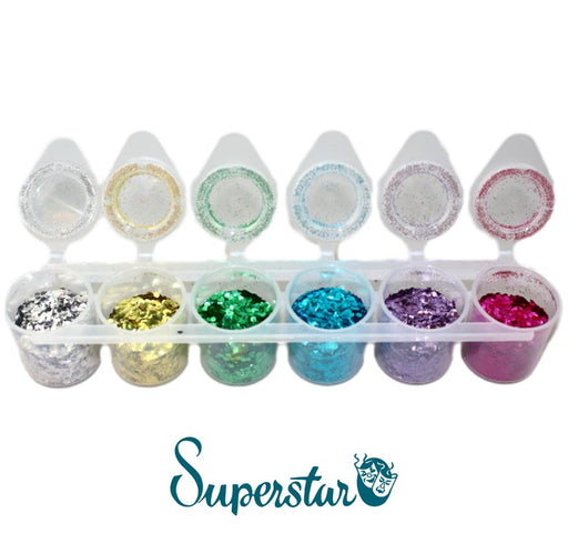 Superstar | Biodegradable Loose Chunky Glitter - BIO Six Pack (90ml)