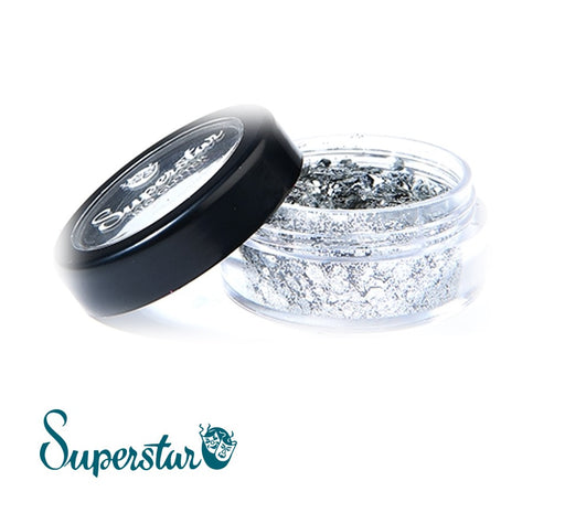 Superstar | Biodegradable Loose Chunky Glitter - Silver (6ml Jar)