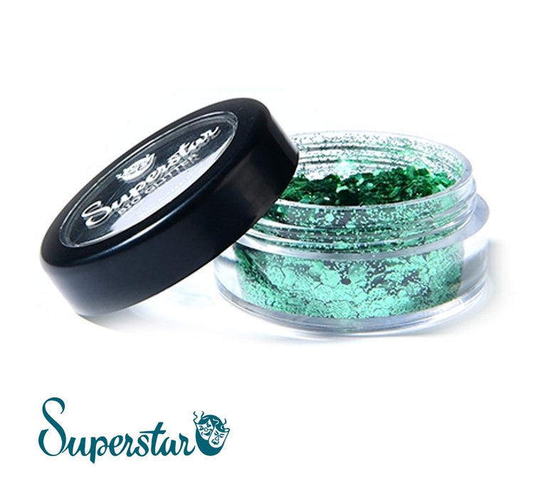 Superstar | Biodegradable Loose Chunky Glitter - Spring Green (6ml Jar)