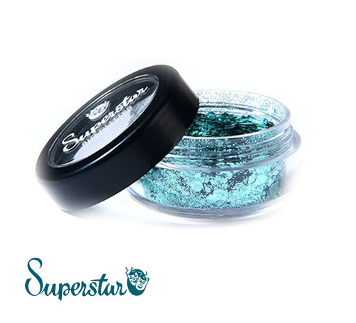 Superstar | Biodegradable Loose Chunky Glitter - Turquoise (6ml Jar)