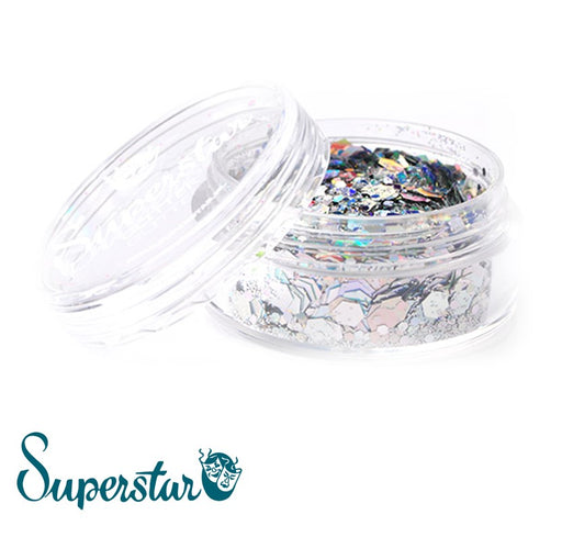 Superstar | Loose Chunky Glitter - Laser Silver (8ml Jar)