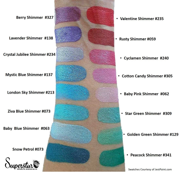Superstar Face Paint  Swatches Shimmers