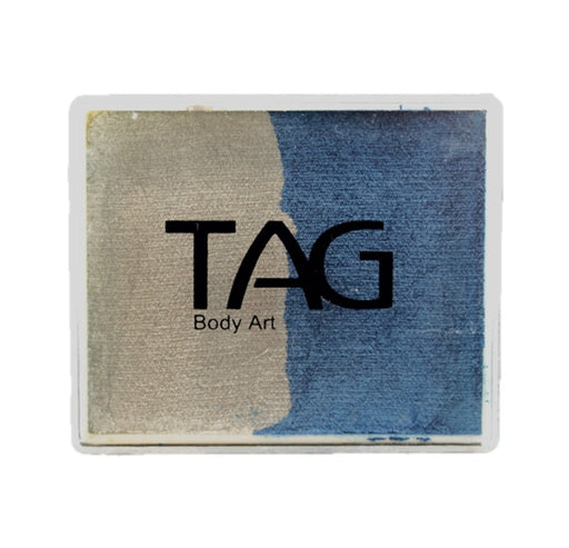 TAG Face Paint Split - Pearl Blue and Pearl Silver 50gr #0 - Jest Paint Store