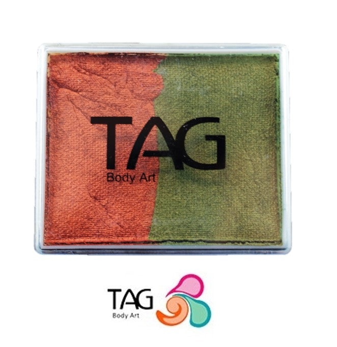 TAG Face Paint Split - Pearl Copper and Pearl Bronze Green 50gr #7 - Jest Paint Store