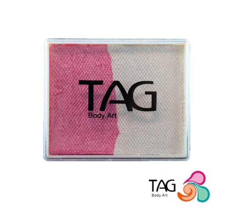 TAG Face Paint Split - Pearl Rose and Pearl White 50gr #1 Jest Paint Store