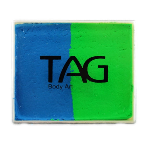 TAG Paint Split -EXCL  Neon Green and Neon Blue 50gr -  #18 - Jest Paint Store