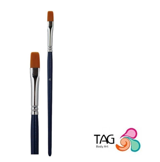 "Face Painting Brush - TAG - FLAT #4 (5/16"") - Jest Paint Store"