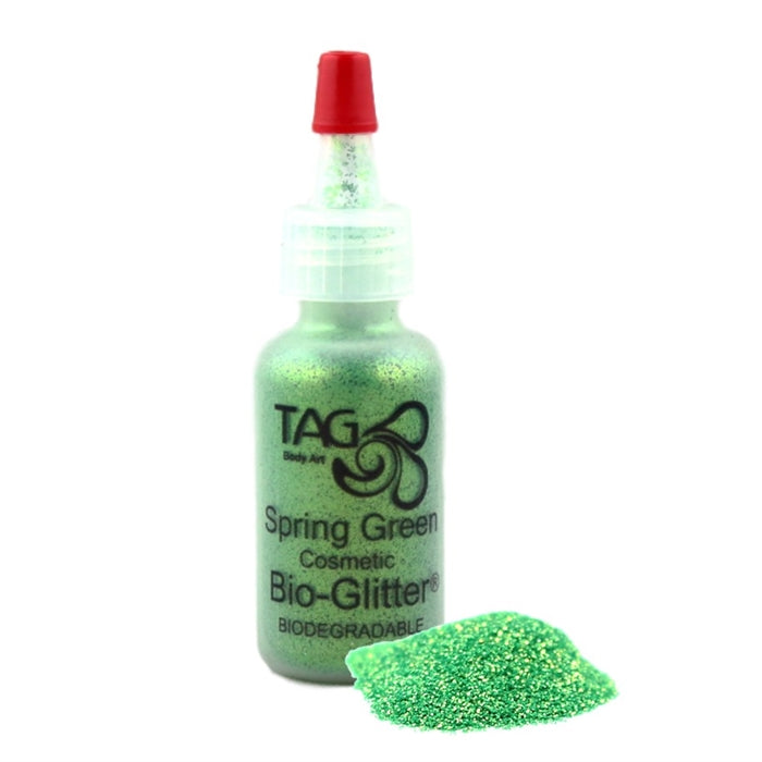 TAG Bio-Glitter | Face Paint Glitter Poof - Spring Green (15ml) - Jest Paint Store
