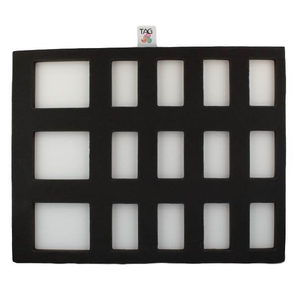 TAG | Face Painting Foam Insert - 15 Rectangle Slots (COMBO  12 1 Strokes and 3 Large Split Cakes) - Jest Paint Store