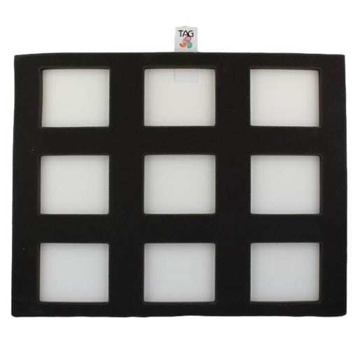 TAG | Face Painting Foam Insert - 9 Rectangle Slots (Most Large 50gr Split Cakes) - Jest Paint Store