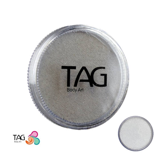 TAG Face Paint - Pearl Silver  32g - Jest Paint Store