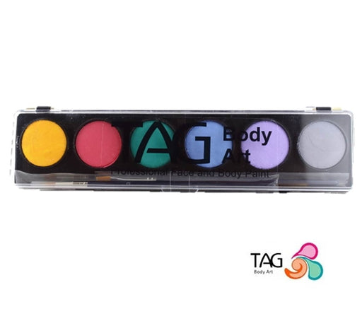 TAG Face Paint - 6 Color Pastel Palette - Jest Paint Store
