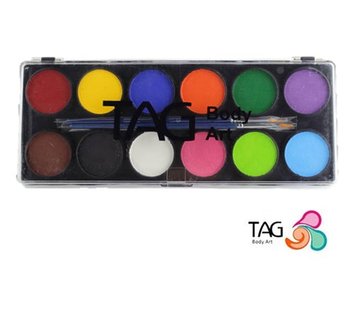 TAG Face Paint - Large 12  Color Regular Palette - Jest Paint Store