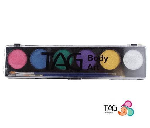 TAG Face Paint - 6 Color Pearl Palette - Jest Paint Store