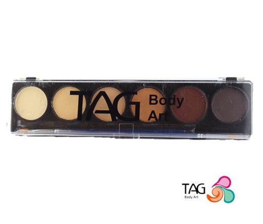 TAG Face Paint - 6 Color Skin Tone Palette - Jest Paint Store