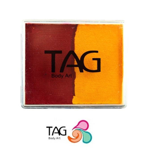 TAG Face Paint Split - Red and Golden Orange 50gr   #1 - Jest Paint Store