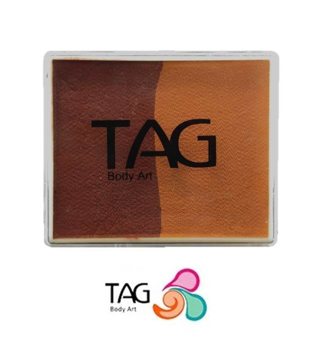 TAG Face Paint Split - Mid Brown and Brown 50gr   #12 - Jest Paint Store