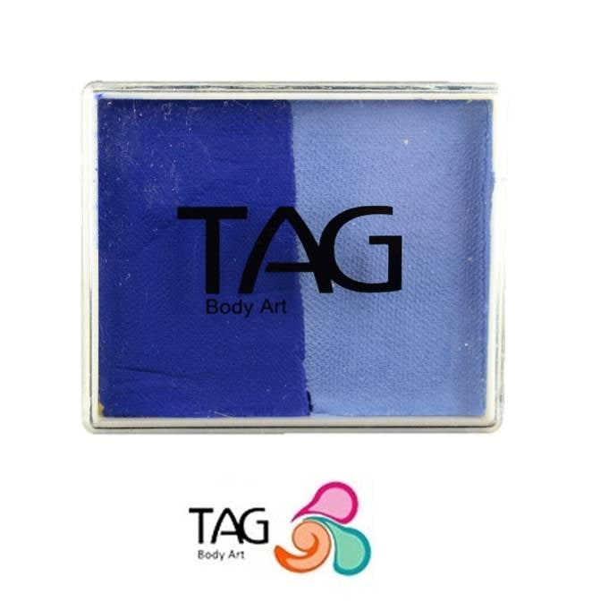 TAG Face Paint Split - Powder Blue and Royal Blue - 50gr  #6 - Jest Paint Store