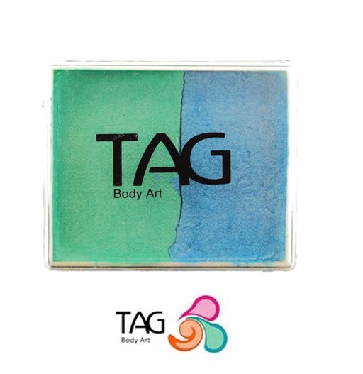TAG Face Paint Split - Pearl Teal and Pearl Sky Blue 50gr #6 - Jest Paint Store