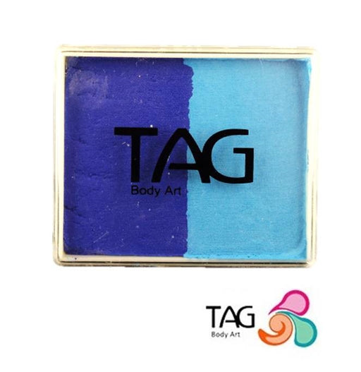 TAG Face Paint Split - EXCL Light Blue and Royal Blue 50gr #14 - Jest Paint Store