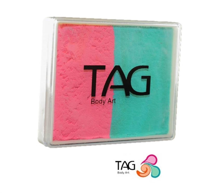 TAG Face Paint Split - EXCL Pink and Teal 50gr   #7 - Jest Paint Store