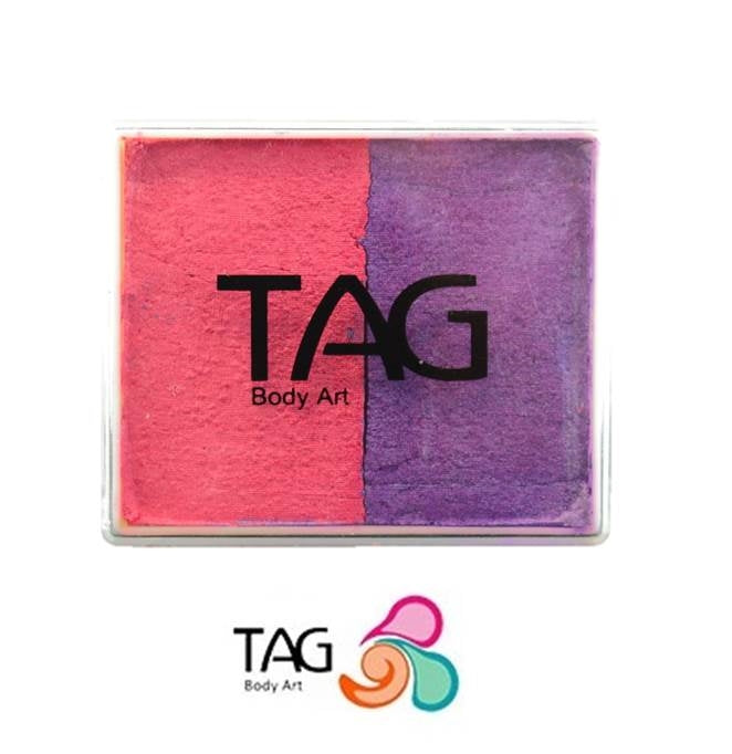 TAG Face Paint Split - EXCL Pearl Rose and Pearl Purple 50gr #8 - Jest Paint Store