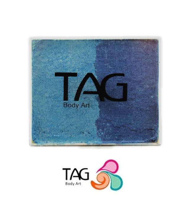 TAG Face Paint Split - EXCL Pearl Blue and Pearl Sky Blue 50gr - Jest Paint Store