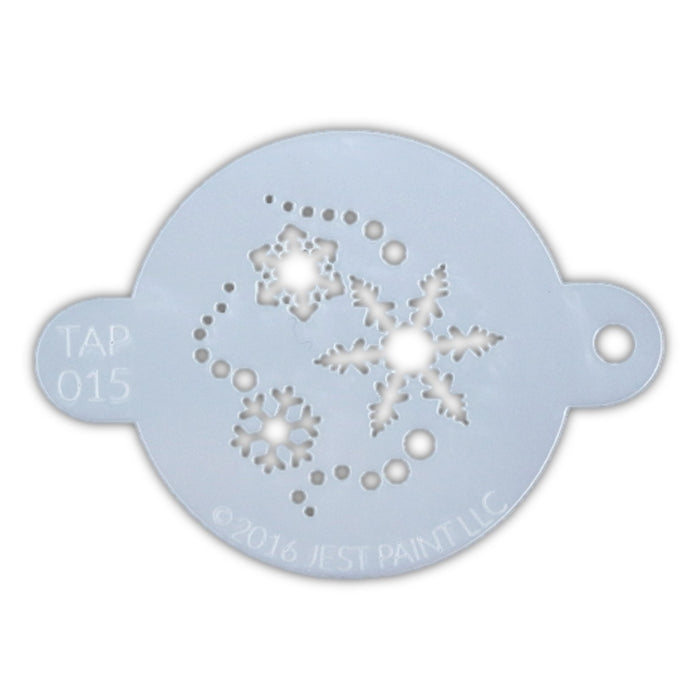 TAP 015 Face Painting Stencil - Snowflakes - Jest Paint Store