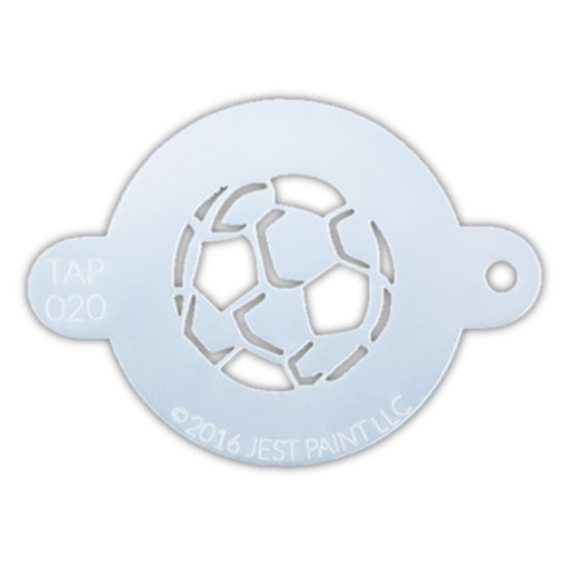 TAP 020 Face Painting Stencil - Soccer Ball - Jest Paint Store