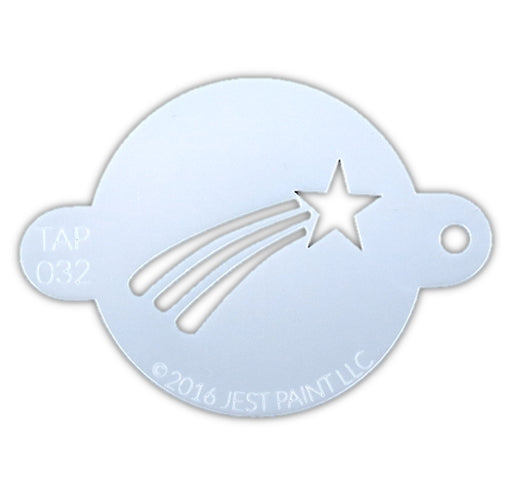 TAP 032 Face Painting Stencil - Shooting Star - Jest Paint Store