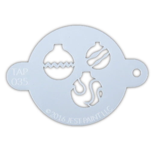TAP 035 Face Painting Stencil - Christmas Ornaments - Jest Paint Store