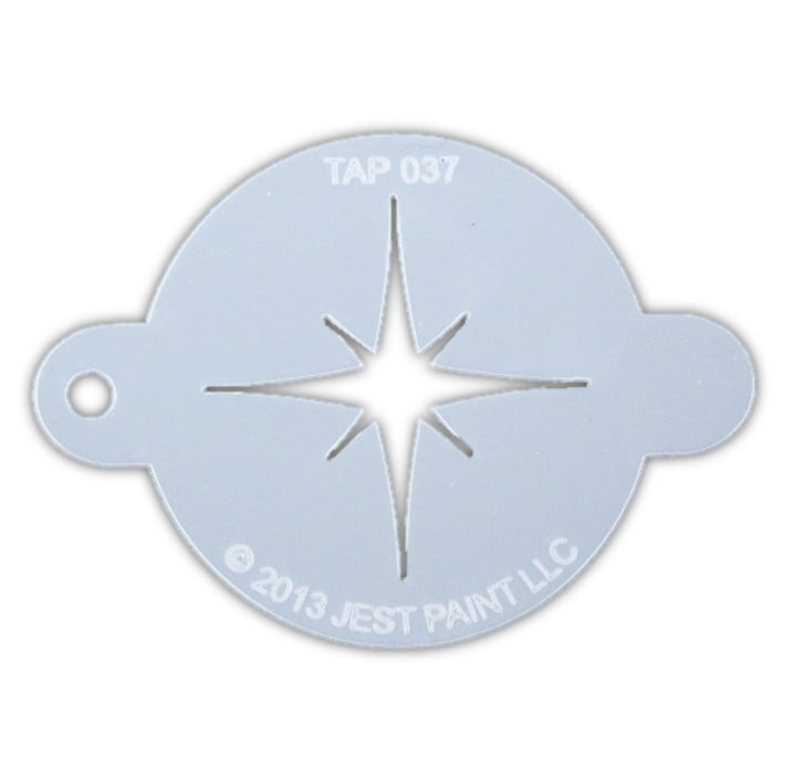 TAP 037 Face Painting Stencil - Christmas Star - Jest Paint Store