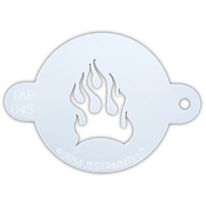 TAP 045 Face Painting Stencil - Fire Flame